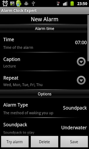 Alarm Clock Expert::By OnWeb Mobile