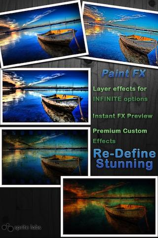 Paint FX Photo Effects Editor::By Sprite Labs
