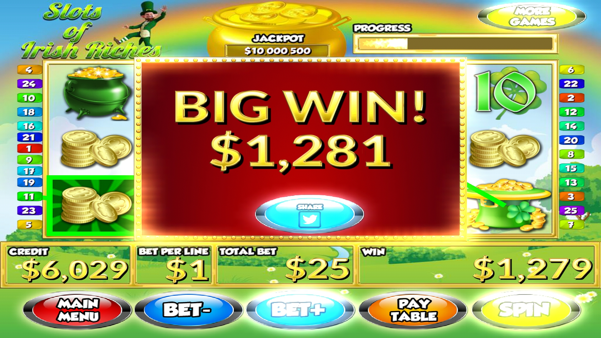 Slots of Irish Riches App::By Best Free Slots Games