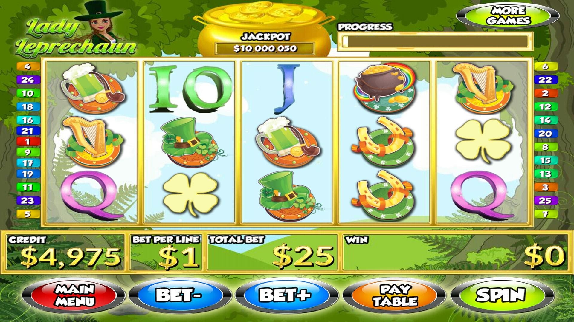The Lady Leprechaun Slots App::By Best Free Slots Games