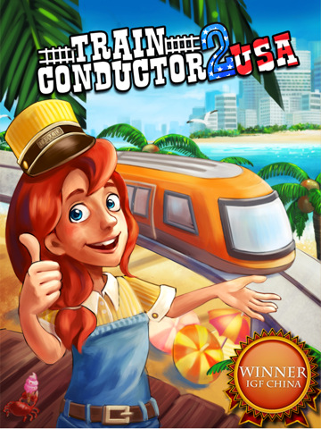 Train Conductor 2 USA::by The Voxel Agents