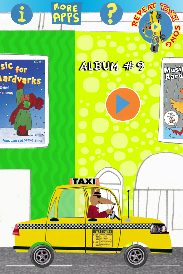 Aardvarks Coloring Jukebox iOS App::By Music for Aardvarks and Other Mammals Inc