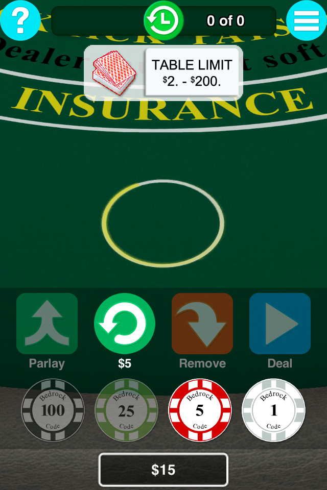 BC Blackjack Casino Game::By Bedrock Code LLC