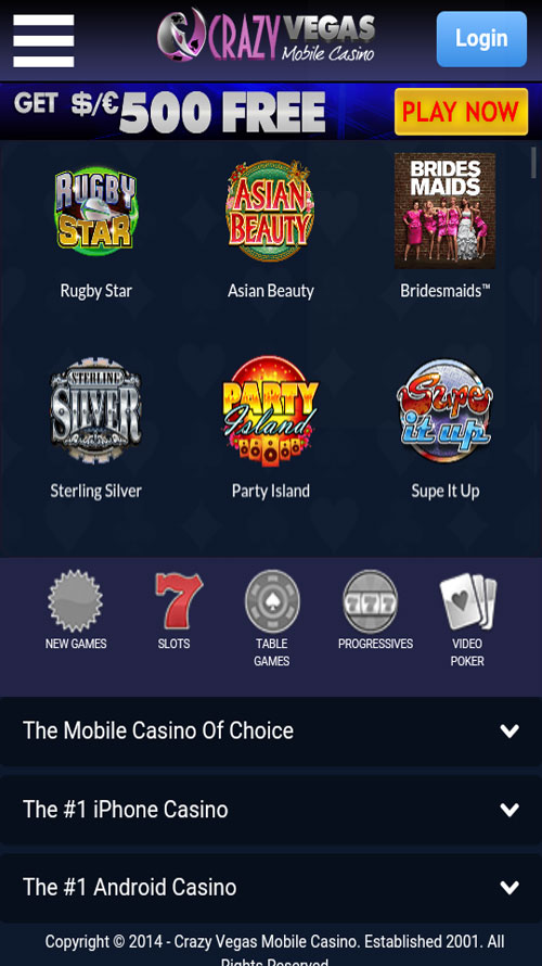 Crazy Vegas Mobile App::By European Union gambling laws