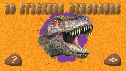 3D Animated Stickers: Dinosaurs
