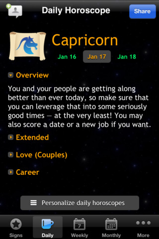 Horoscope Free::By Buzly Labs Ltd.