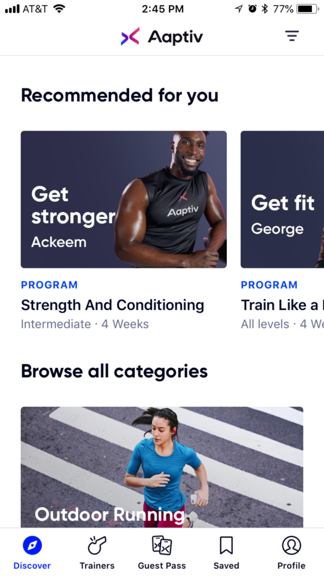 Aaptiv fitness app review::By AAPTIV INC